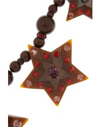 Lanvin - Metallic Swarovski Crystal Star Necklace - Lyst