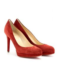 Christian Louboutin | Red New Simple 100 Suede Pumps | Lyst