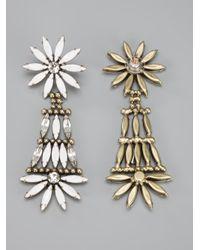 DANNIJO - White Lovisa Earrings - Lyst