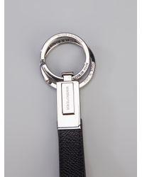 Dolce & Gabbana - Metallic Logo Keyring for Men - Lyst