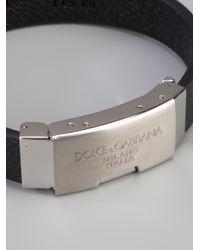 Dolce & Gabbana | Black Logo Plaque Bracelet for Men | Lyst