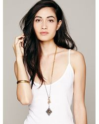Free People - Metallic Charmed Lariot Pendant - Lyst