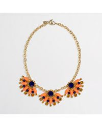 J.Crew | Orange Factory Stone Fan Necklace | Lyst