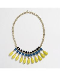 J.Crew | Gray Factory Multicolor Teardrop Necklace | Lyst