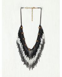 N/a | Black Ombre Fringe Collar | Lyst