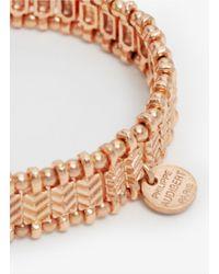 Philippe Audibert - Pink Beaded Elastic Bracelet - Lyst