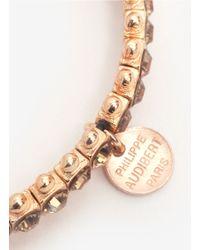 Philippe Audibert | Pink Rhinestone-embellished Bead Bracelet | Lyst