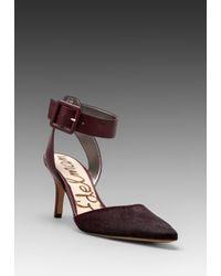 Sam Edelman | Purple Okala Heel in Burgundy | Lyst