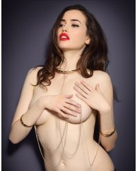 Agent Provocateur - Metallic Crystal Collar Gold - Lyst