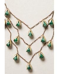 Anthropologie - Green Elemental Necklace - Lyst