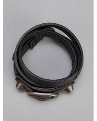 Balenciaga - Black Studded Bracelet - Lyst