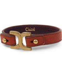 Chloé | Brown Marcie Leather Bracelet | Lyst