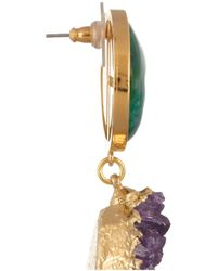 Dara Ettinger - Green Celeste Goldplated Amethyst and Geode Earrings - Lyst