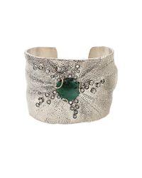 Federica Rettore | Metallic Emerald Cuff Bracelet | Lyst