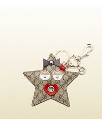 Gucci - Natural Starry Micro Gg Supreme Canvas Charm - Lyst