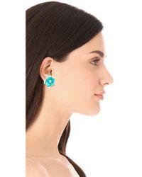 Kenneth Jay Lane | Blue Flower Post Earrings | Lyst