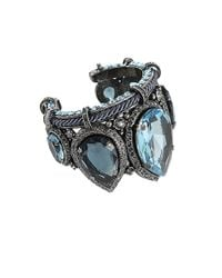 Lanvin | Blue Large Marquise Stone Cuff | Lyst