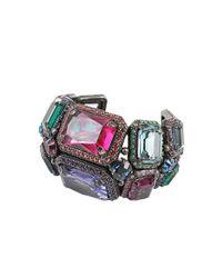 Lanvin - Multicolor Multi Gemstone Cuff - Lyst