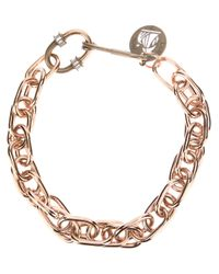 Lanvin - Metallic Chunky Chain Necklace - Lyst