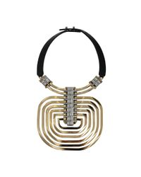 Lanvin | Metallic Dedale Collar Pendant Necklace | Lyst