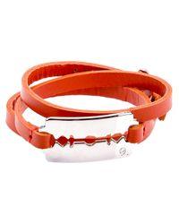 McQ | Metallic Leather Razor Bracelet | Lyst