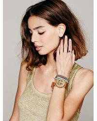 Free People - Brown Compass Sundial Cuff - Lyst