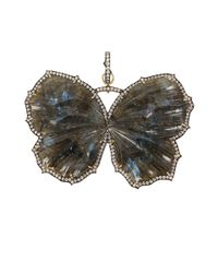 Sylva & Cie - Gray Labradorite Butterfly Pendant - Lyst