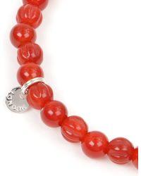 Tateossian - Red Carnelian and Silver Disc Bracelet - Lyst