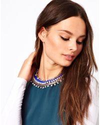 Eastpak - Blue Designsix Stamford Statement Collar Necklace - Lyst