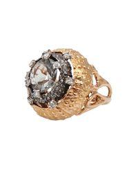 Federica Rettore | Metallic Prasiolite Ring with Rose Cut Diamonds | Lyst