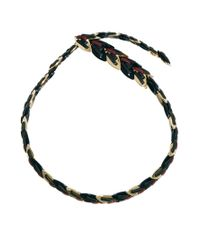 Giles & Brother | Multicolor Nara Armor Snake Necklace Bright Gold with Black Lacquer and Red Leather for Men | Lyst