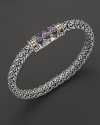 John Hardy - Metallic Small Sterling Silver Small Chain Bracelet with Amethyst - Lyst