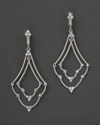 Judith Ripka | Metallic Sterling Silver Large Double Emily Earrings | Lyst