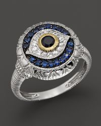 Judith Ripka | Metallic Sterling Silver Evil Eye Ring | Lyst