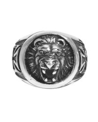 Happy Socks | Metallic Reclaimed Vintage Lion Charm Ring for Men | Lyst