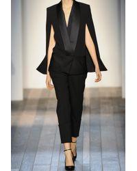 Victoria Beckham - Black Silk and Woolblend Cape Jacket - Lyst