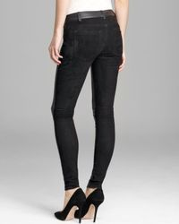 Vince - Black Jeans Mixed Leather - Lyst
