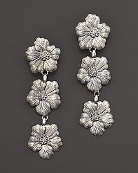 Buccellati - Metallic Blossom 3 Small Flower Pendant Earrings - Lyst