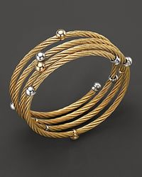 Charriol Metallic Classique 18k Yellow Gold Spiral Wrap Bangle