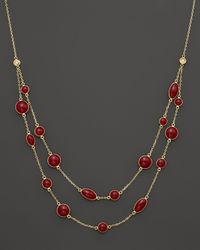 Roberto Coin | Red 18k Yellow Gold Confetti Collar  | Lyst