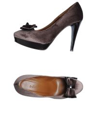 Couture | Gray Platform Pumps | Lyst