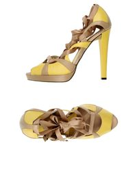 Diego Dolcini - Yellow Sandals - Lyst