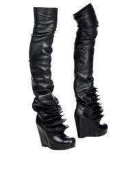 Rick Owens | Black Boots | Lyst