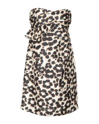 See By Chloé | Black Printed Silk-taffeta Dress | Lyst