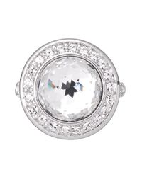 Aurora | Metallic Swarovski 18ct White Gold Plated Cocktail Ring | Lyst