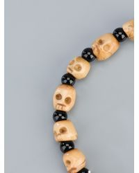 Chan Luu - Natural Onyx and Skull Bead Necklace - Lyst