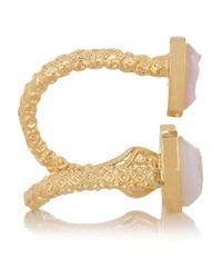Dara Ettinger - Metallic Lorie Goldplated Agate Druzy Ring - Lyst
