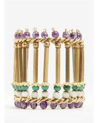 Ela Stone | Metallic Elya Column Bead Bracelet | Lyst