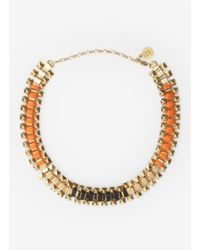 Ela Stone | Metallic Rowina Coloured Thread Stud Necklace | Lyst