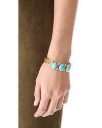 Elizabeth Cole - Blue Triple Stone Cuff Bracelet - Lyst